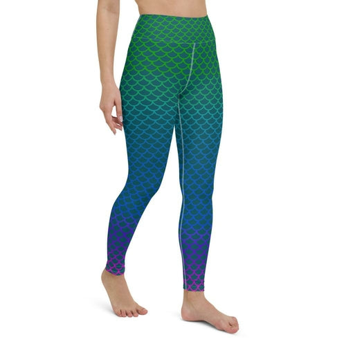 High Waist Erin Ombre Mermaid Leggings