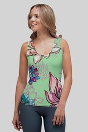 Big Flower Flex Tank Top