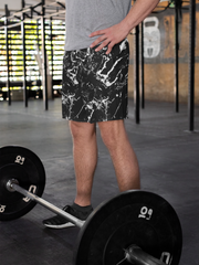 Men's Black Marble Shorts