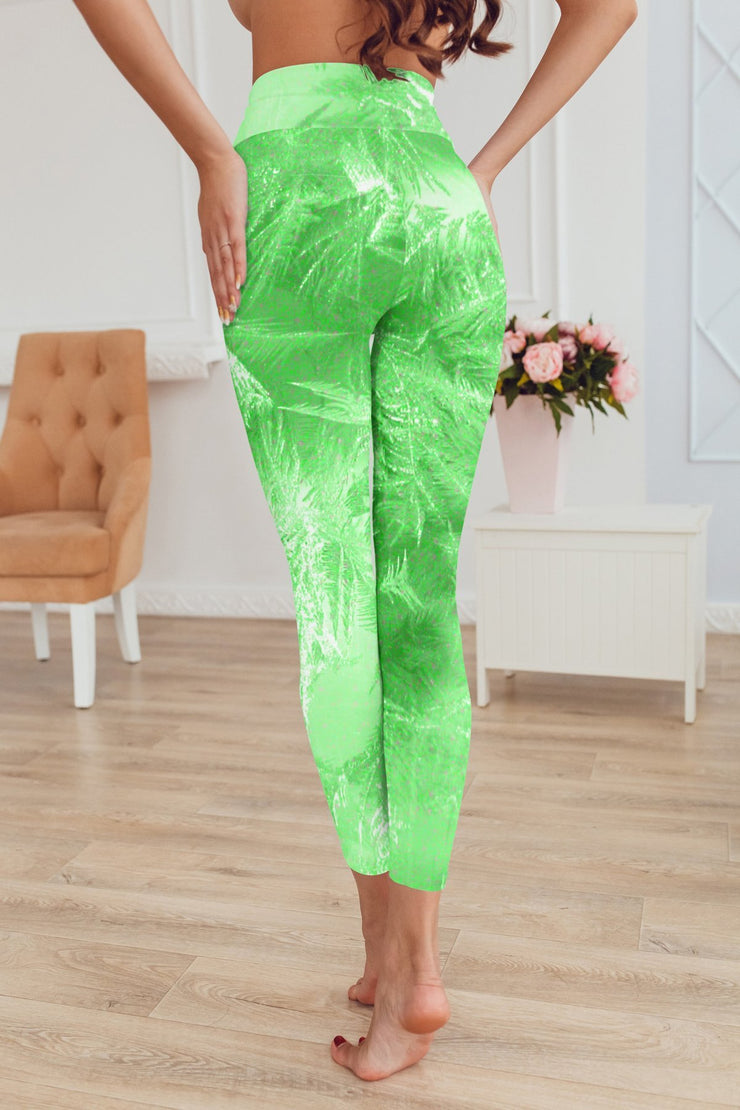 High Waist Green Tinkerbell Capris