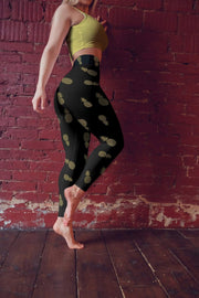 High Waist Black Pineapple Leggings