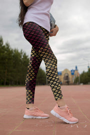 High Waist Kaylee Mermaid Leggings