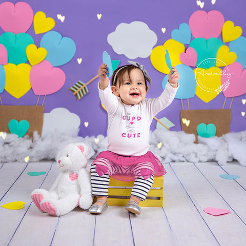 Fox Rolled Cloud Children Birthday Vinyl Backdrop Designed By Blanca Perez