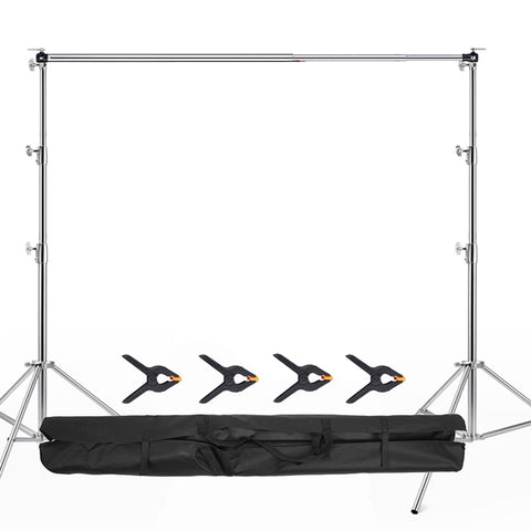 Fox 3x2.8m Stainless Steel Equipment Framework Telescopic Stand Adjustable Photographic Backdrop Display Stand