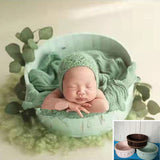 Fox Wooden Tub for Newborn Baby Photo Prop