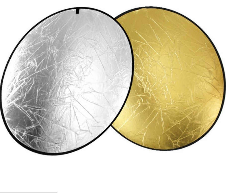 Fox 2-In-1 Golden Silver Light 60cm Round Photography Reflector For Studio Photography Lighting and Outdoor Lighting Prop