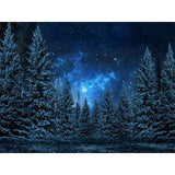 Fox Rolled Night Sky Forest Vinyl Backdrop