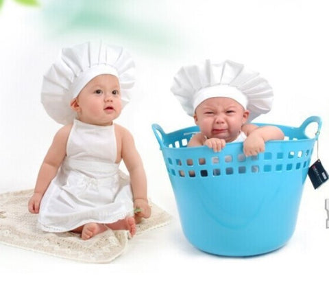 Fox White Kids Kitchen Cook Outfit Clothes Photo Prop for Photoshoot