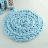 Fox Newborn Basket Braid Wool Wrap Baby Photography Props