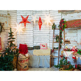 Load image into Gallery viewer, Fox Rolled Christmas Inside Vinyl Backdrop for Photography