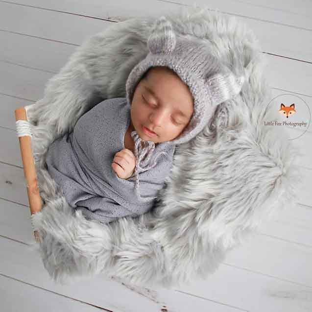 Fox Rolled Vintage White Wood Newborn Vinyl Backdrop-Foxbackdrop