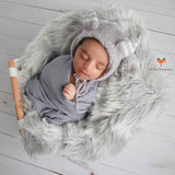 Fox Vintage White Wood Newborn Vinyl Backdrop