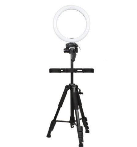 Ring Light with Tripod Stand & Cell Phone Holder for Live Stream/Makeup, UBeesize Mini Led Camera Ringlight for YouTube Video/Photography