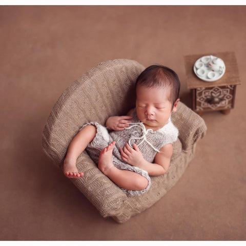 Fox Newborn Baby Small Sofa Photo Props Decoration
