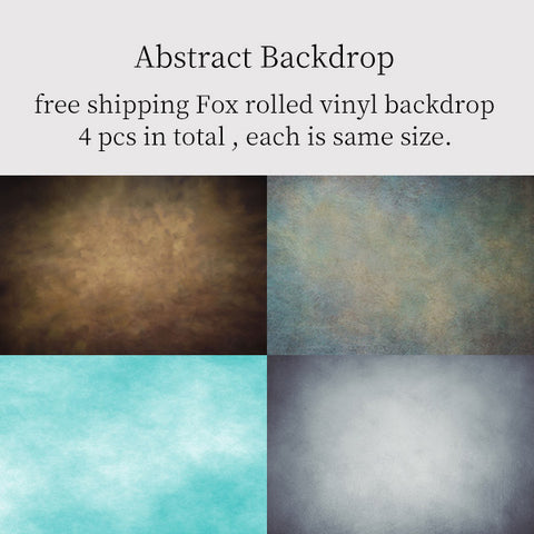Fox Rolled 4 Pcs Abstract Portrait Combination Vinyl Backdrop