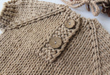 Fox Newborn Khaki Knit Outfit Clothes Hat with Clothes for Baby Photoshoot