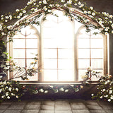Fox Flower Windows Wedding Vinyl Backdrop-Foxbackdrop