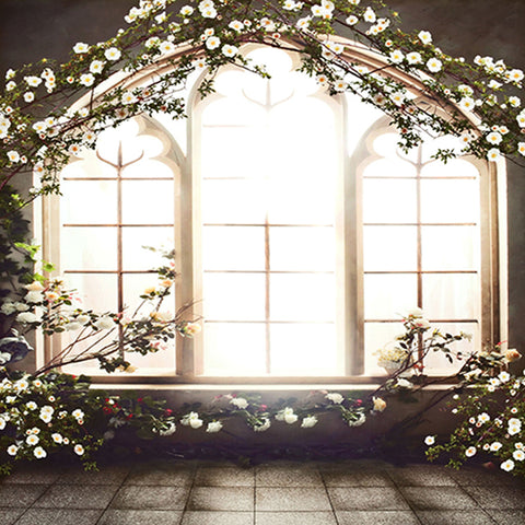 Fox Flower Windows Wedding Vinyl Backdrop