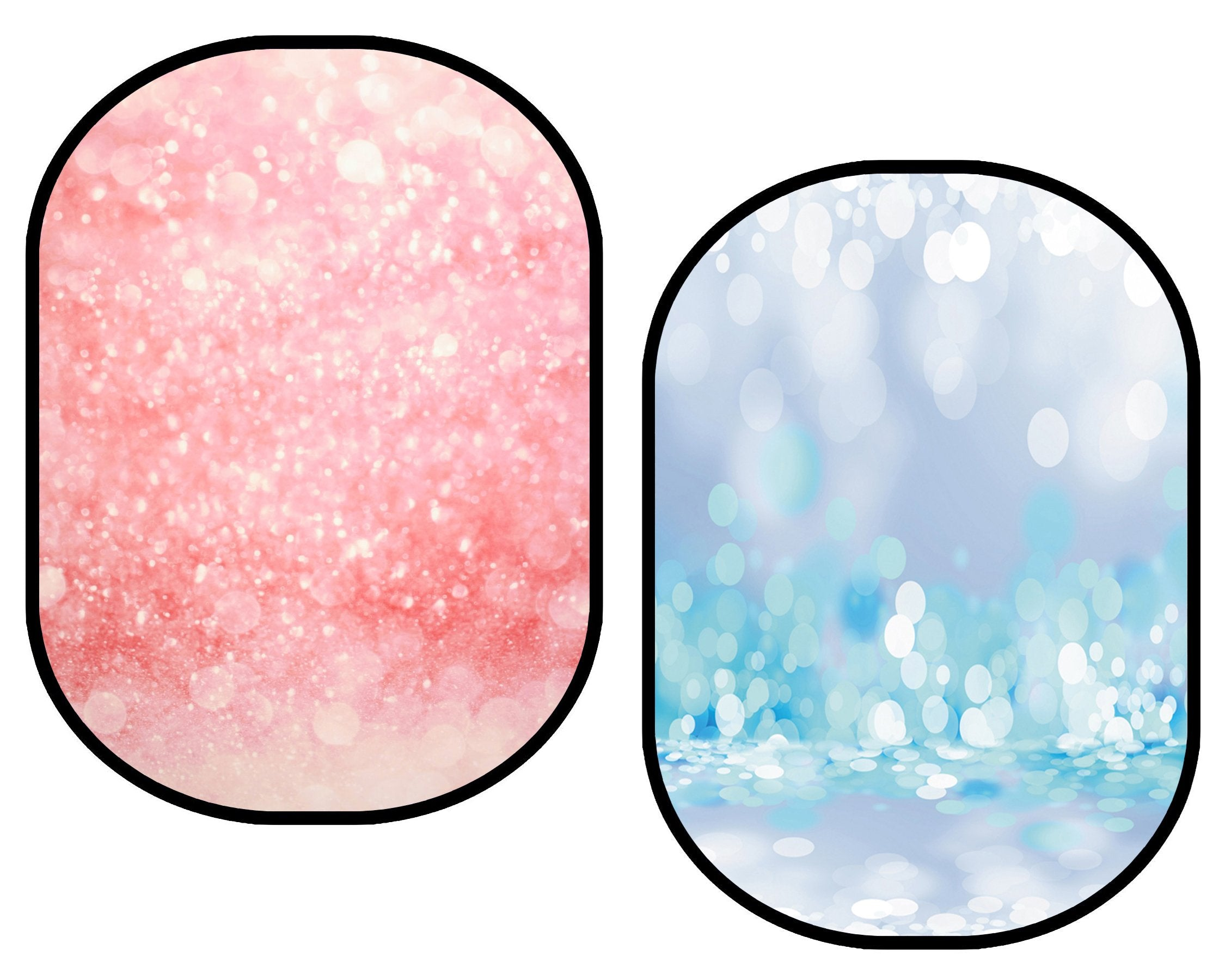 Fox Pink Sequins Bokeh/ Blue Sequins Bokeh Collapsible Backdrop Photography 5X6.5ft(1.5x2m)-Foxbackdrop
