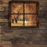 Fox Rolled Autumn Wood Window Vinyl Photos Backdrop