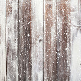 Snow Brown Wooden Mat Floor-Foxbackdrop