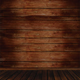 Fox Brown Wood Board Newborn Photos Vinyl Backdrop-Foxbackdrop
