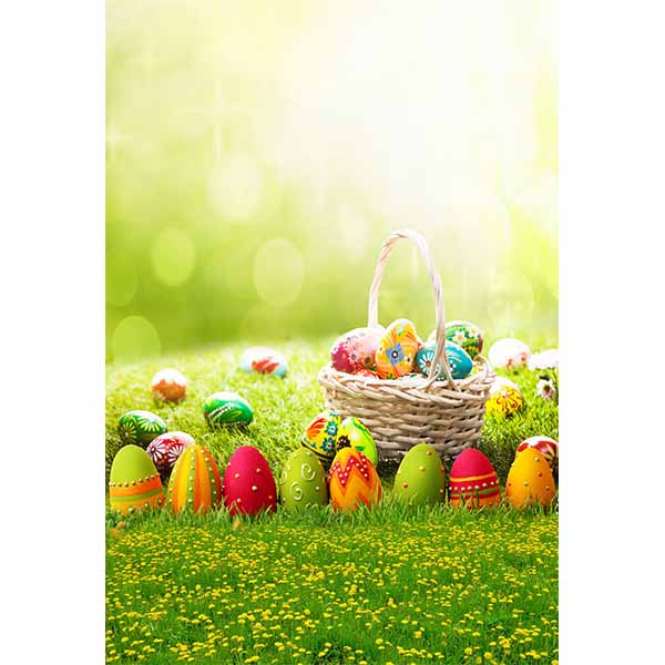Fox Rolled Green Easter Vinyl Photography Backdrop-Foxbackdrop