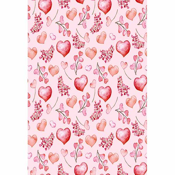 Fox Rolled Vinyl Pink Flowers Valentine's Day Backdrops-Foxbackdrop