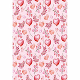 Fox Rolled Vinyl Pink Flowers Valentine's Day Backdrops