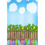 Fox Rolled Vinyl Eggs Sky Easter Photography Backdrop-Foxbackdrop