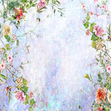 Spring Abstract Background With Flowers Wedding Vinyl Printed Backdrop for Photography