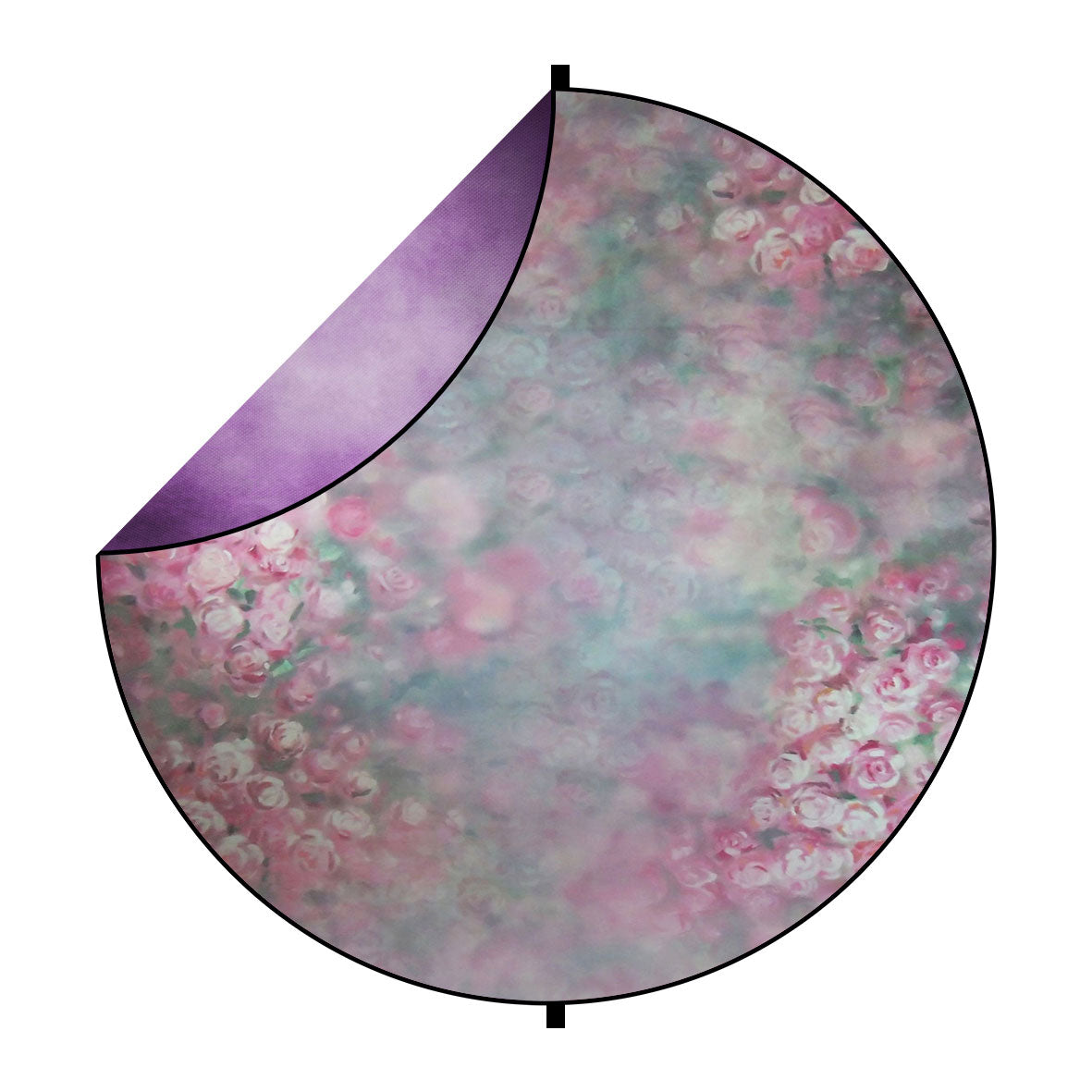 Fox Abstract Lilac/Pink Flowers Collapsible Backdrop 5x5ft(1.5x1.5m)