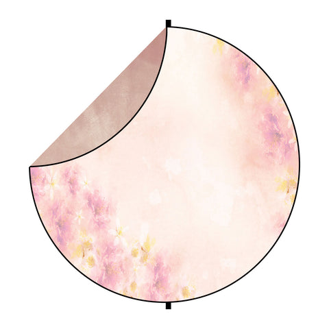 Fox Abstract Burgundy/ Pink Flowers Collapsible Backdrop 5x5ft(1.5x1.5m)