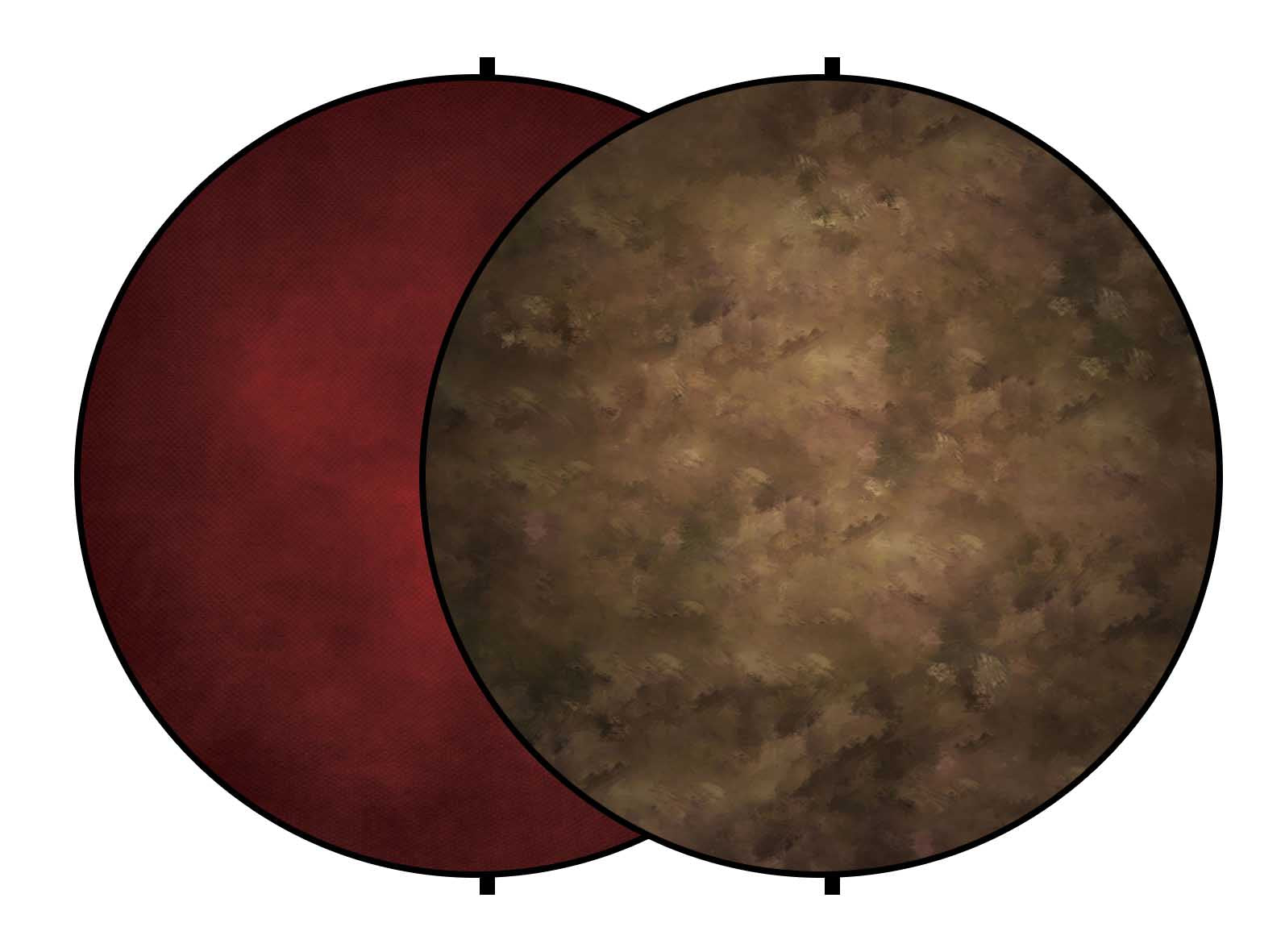 Fox Abstract Brown/Burgundy Collapsible Portrait Backdrop 5x5ft(1.5x1.5m)