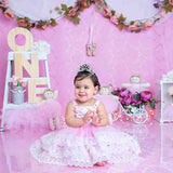Load image into Gallery viewer, Fox Rolled Pink Girl Birthday Vinyl Backdrop Design by Maria Gabriela-Foxbackdrop