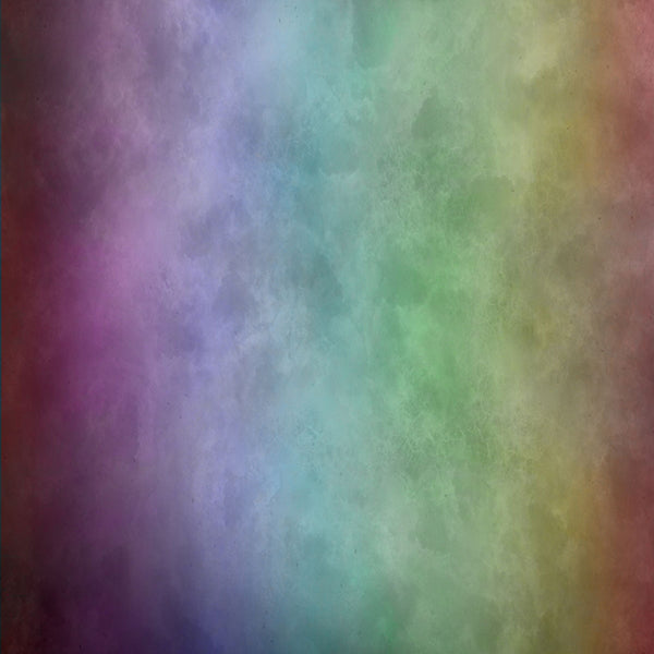 Fox Abstract Colorful Smoke Vintage Vinyl Backdrop