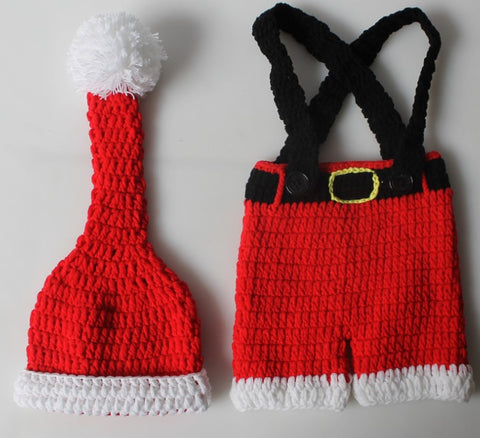 Fox Knitting Newborn Prop Christmas Photography Outfit Hat Clothes