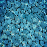 Fox Light Blue Stones Undersea Mat Floor-Foxbackdrop