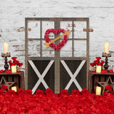 Fox Rolled Valentine's Day Vinyl Photography Backdrop-Foxbackdrop