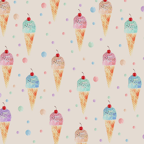 Fox Ice Cream Children Photography Vinyl Summer Backdrop