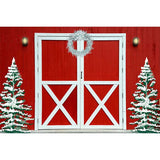 Fox Red Wall Christmas Trees Vinyl Photo Studio Backdrop