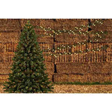 Fox Rolled Christmas Trees Haystack Vinyl Backdrops-Foxbackdrop