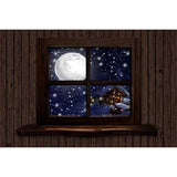 Fox Rolled Retro Christmas Window Vinyl Photo Backdrop
