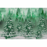 Load image into Gallery viewer, Fox Rolled Green Pine Christmas Vinyl Photography Backdrop-Foxbackdrop