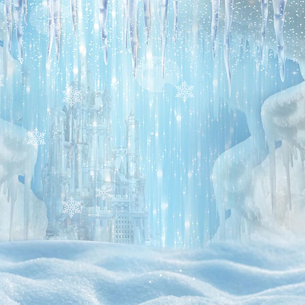 Fox Rolled Frozen Children Vinyl Photo Backdrop-Foxbackdrop