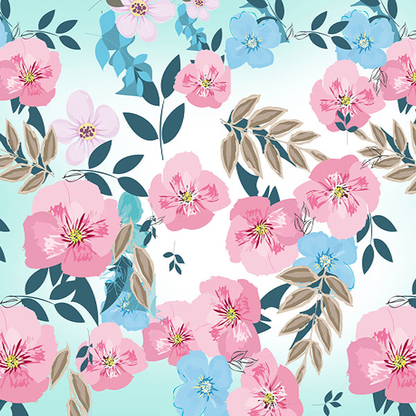 Fox Pink Watercolors Flower Vinyl Backdrop-Foxbackdrop