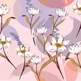 Load image into Gallery viewer, Fox Pink Light Purple Background with Flowers Vinyl Backdrop-Foxbackdrop