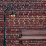 Fox Rolled Red Brick Bench Lamp Vinyl Photos Backdrop-Foxbackdrop