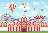 Fox Circus Show for Children Vinyl Backdrop-Foxbackdrop
