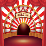 Fox Circus Performance Stage Vinyl Backdrop-Foxbackdrop